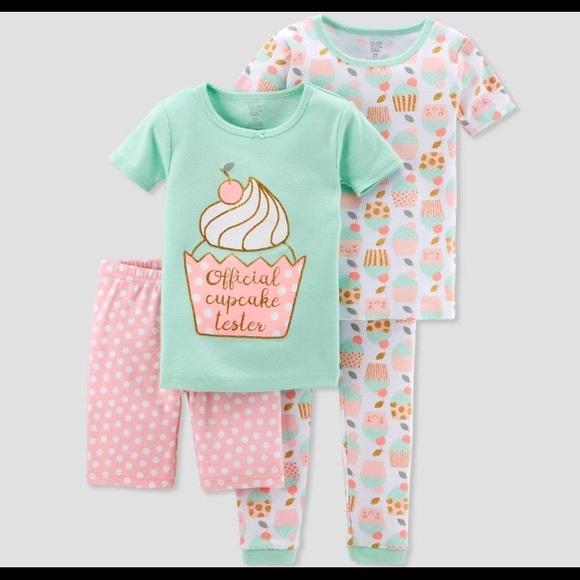 35e5a2a45 Carter's Pajamas | Just One You 4pc Pink Cupcake Cotton Pajs 3t 30 ...